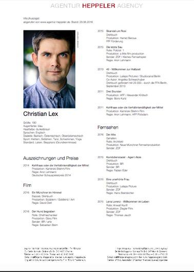 Offizielle Homepage Von Autor Und Schauspieler Christian Lex